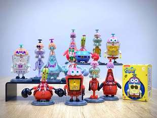 Genuine SpongeBob Blind Box Fei Xuan Nao Er Series Toy Doll Trend Hand-made Children's Educational Ornaments Complete Set