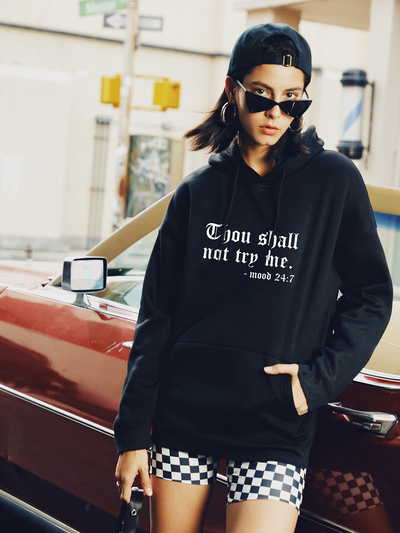 autumn and winter women's street casual hooded sweater hot letters NSSN1877