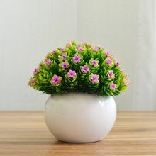 仿真绿植小盆栽盆景 家居摆设摆件 书桌迷你装饰假花新品盆栽米兰
