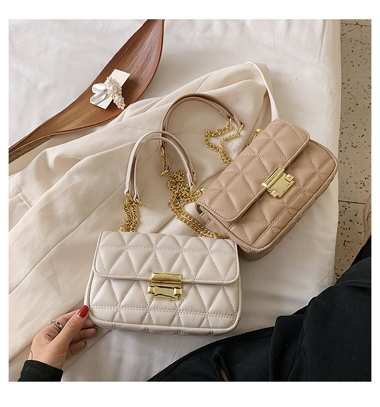 new trendy fashion one shoulder summer wild small square Chain messenger bag for women  NHTC242663