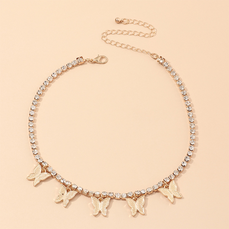 fashion jewelry super fairy clavicle chain necklace simple single-layer diamond necklace wholesale nihaojewelry NHNZ234130