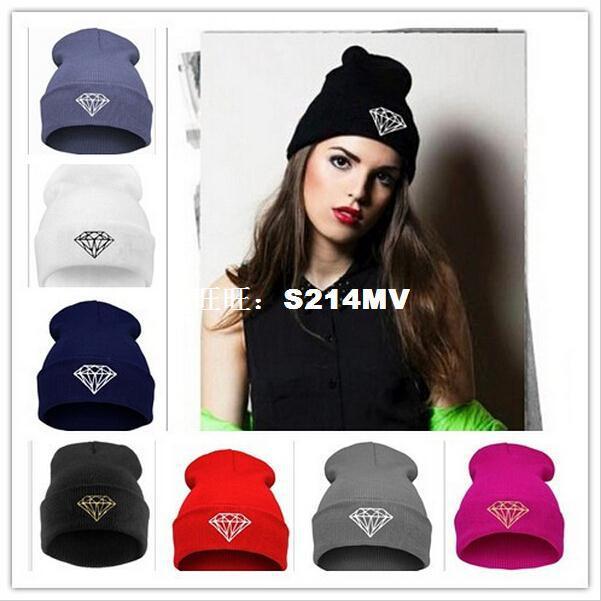 Women Cap Diamond Beanie Touca Gorro Winter warm Elastic Hat