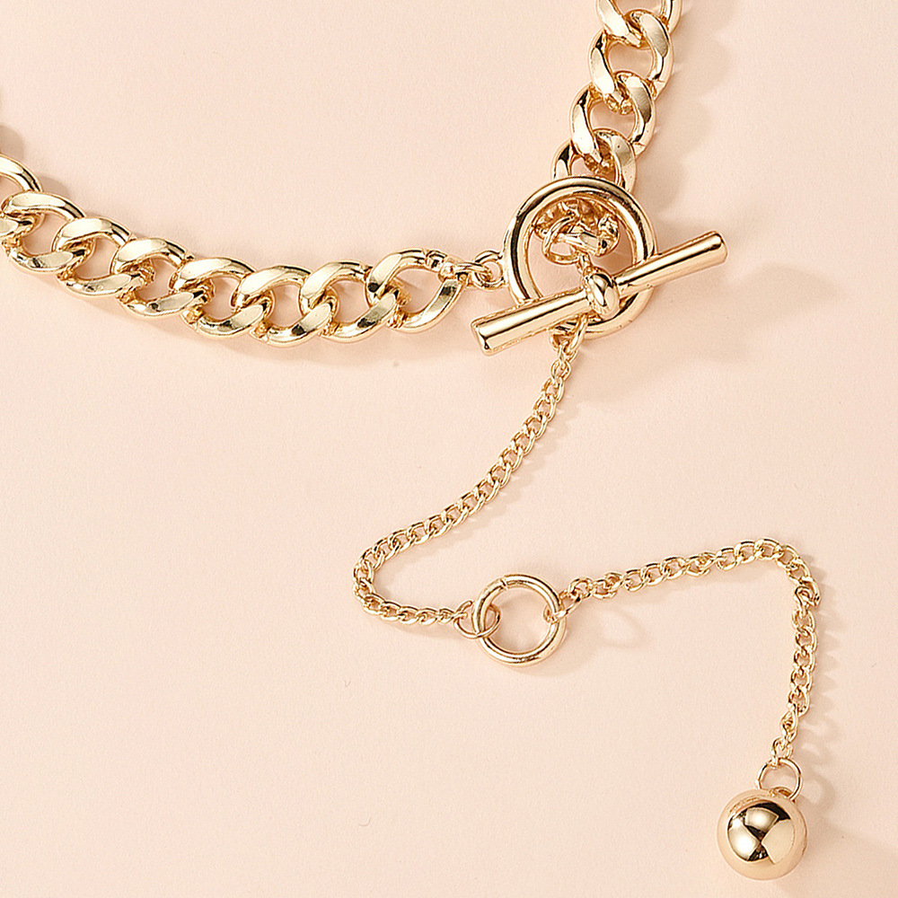 fashion jewelry creative gold long pendant necklace new personality clavicle chain wholesale nihaojewelry NHMD221026