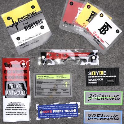外贸货源服饰辅料定做金属气眼数码印花商标免费拿样PVCJY076-079