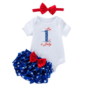Independence day Baby birthday party dresses cartoon mother jacket