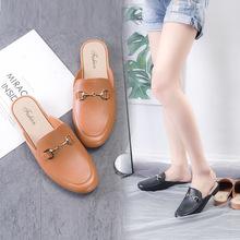 厂家直销夏季新款包头半拖鞋女平底外穿网红时尚百搭一脚蹬凉拖鞋