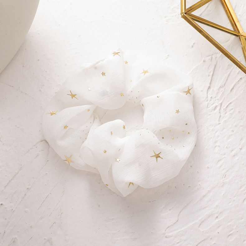 Starry sky hair ring headdress simple star head rope fabric large intestine ring hair rope wholesale nihaojewelry NHMS231854