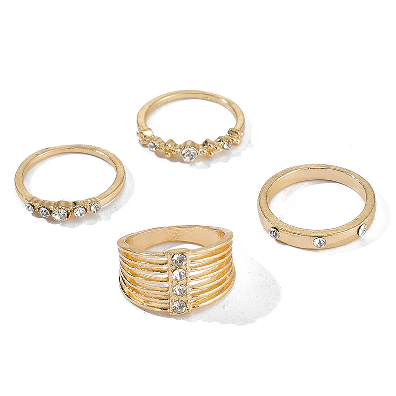 Fashion new multi-piece ring with diamond joint ring ring ring set NHGY199754
