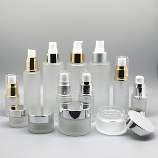Cosmetic glass bottle in stock, cosmetic sub-bottling set, cosmetic packaging bottle retail 50g