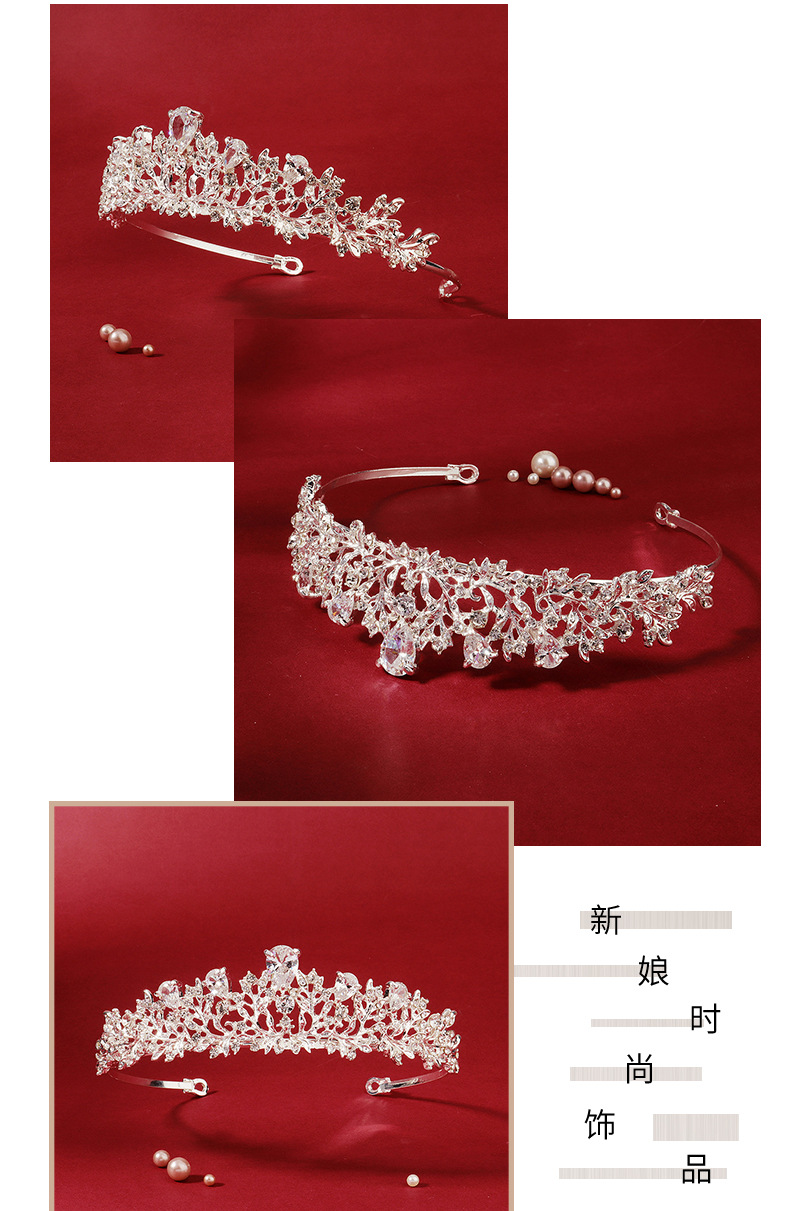 New fashion zircon hair accessories bohemian retro crown prom dress accessories bridal jewelry NHHS211438