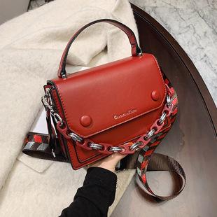 2020 new female messenger bag shoulder bag small square bag handbag cross-border exclusively for foreign trade female bag chain bag logo