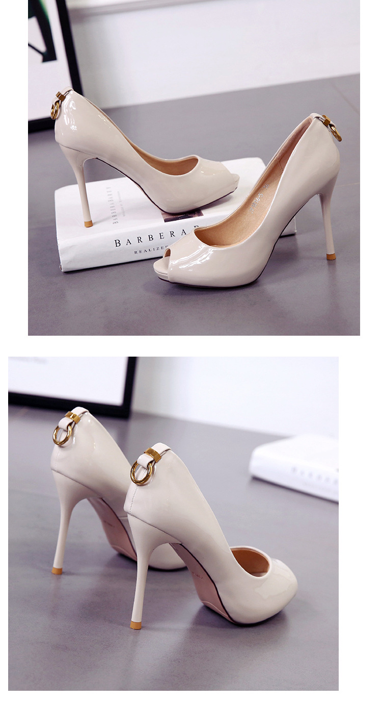 Spring and summer new fish mouth high-heeled shoes NHSO200274
