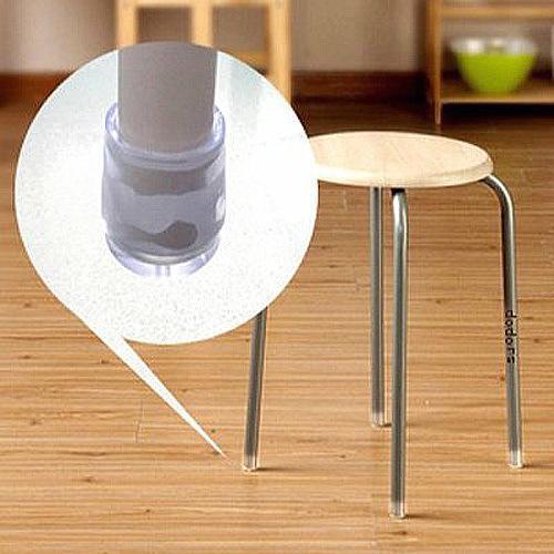 硅胶藤椅圆形脚套防滑保护套防磨耐磨静音铁凳子小号加厚子腿脚垫