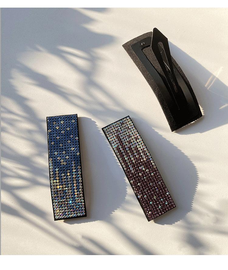 geometric  retro diamond-studded fashion black word clip  NHWF283117