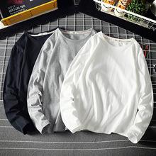 淘寶外貿批發 代理加盟純色棉基礎長袖t恤大碼男生胖子打底衫男裝
