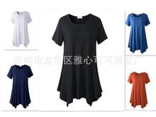 2020新款欧美爆款独立站燕尾女士短袖T恤
