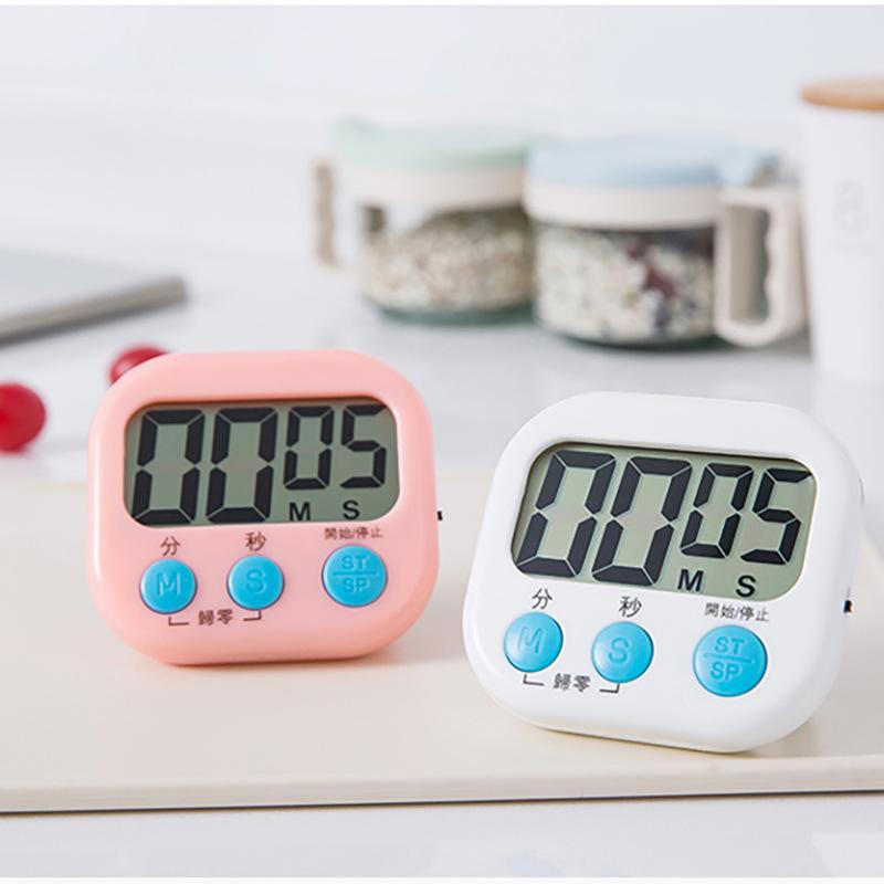 电子计时器厨房提醒器电子定时器 多功能数字倒计时计时器 闹钟