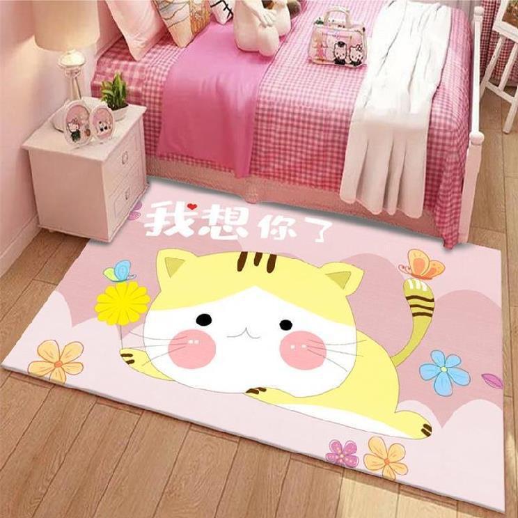 薄地毯卧室满铺防潮易清洗游戏毯学爬垫吸水不掉毛可机洗男童玩耍