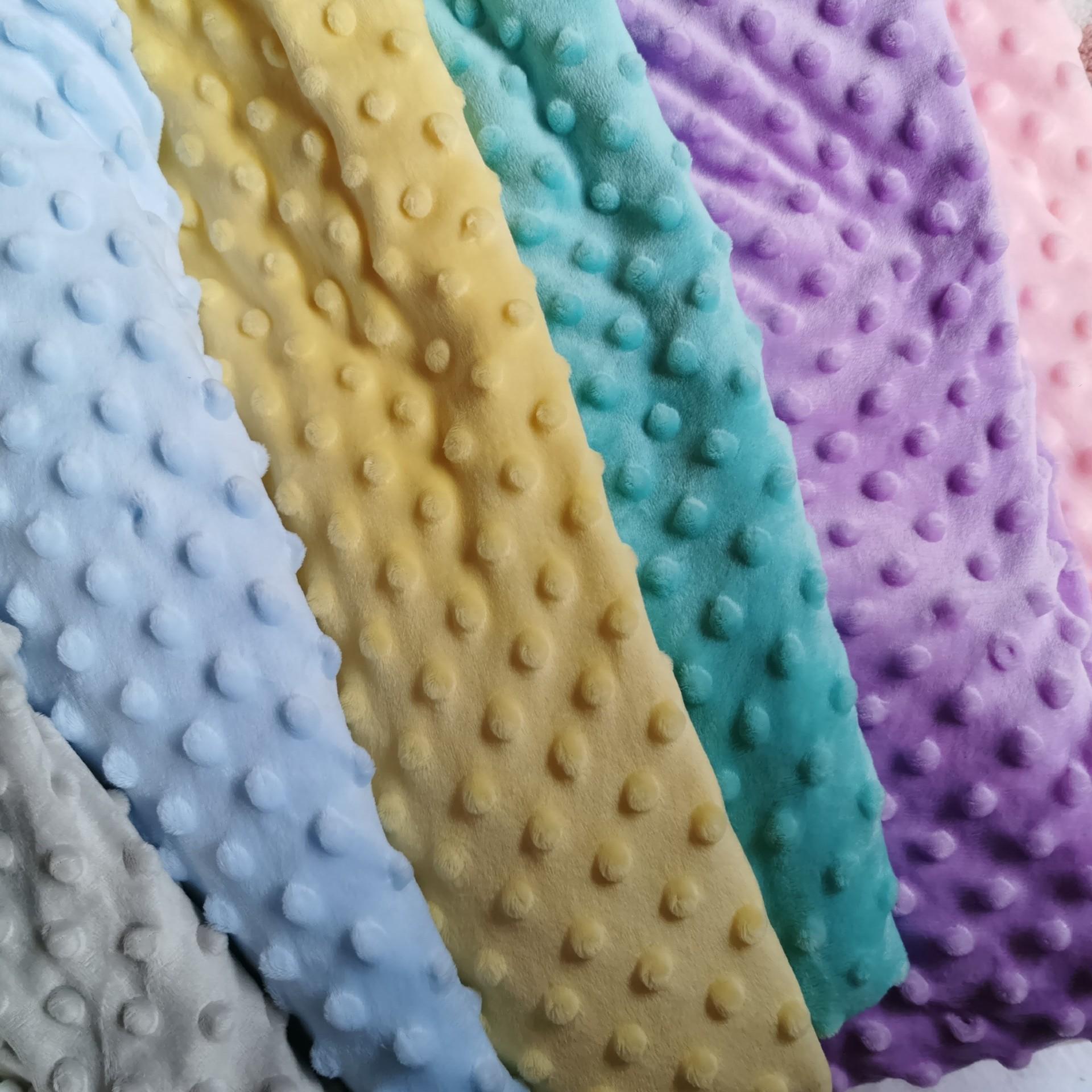 現貨水晶超柔壓泡絨 壓泡泡豆豆絨 嬰兒安撫毛毯玩具童裝絨布面料