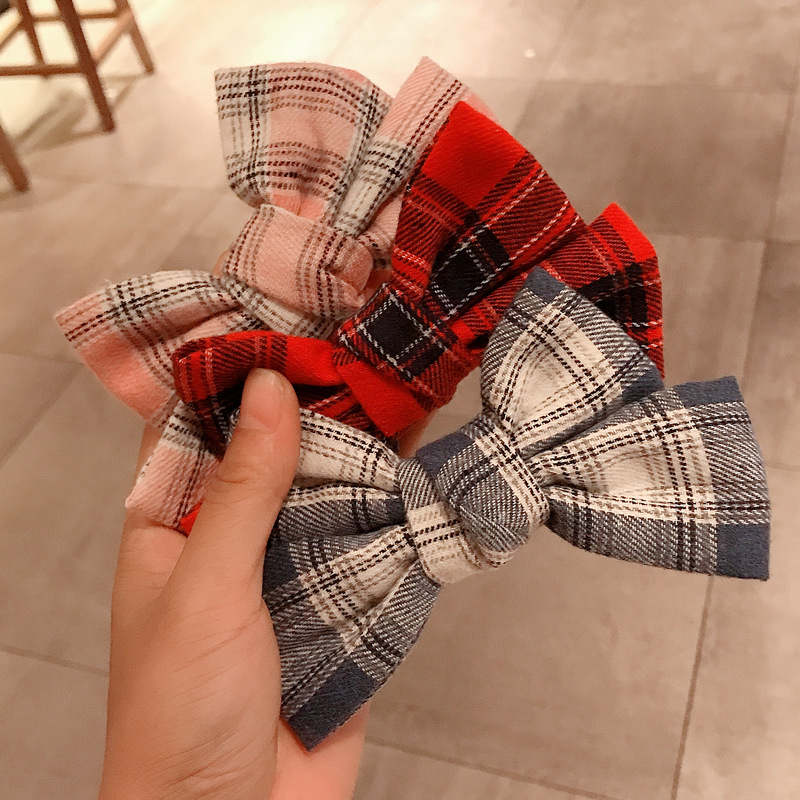 Korea brushed bow hair clip net red back head hairpin headdress side clip top clip NHDQ263738