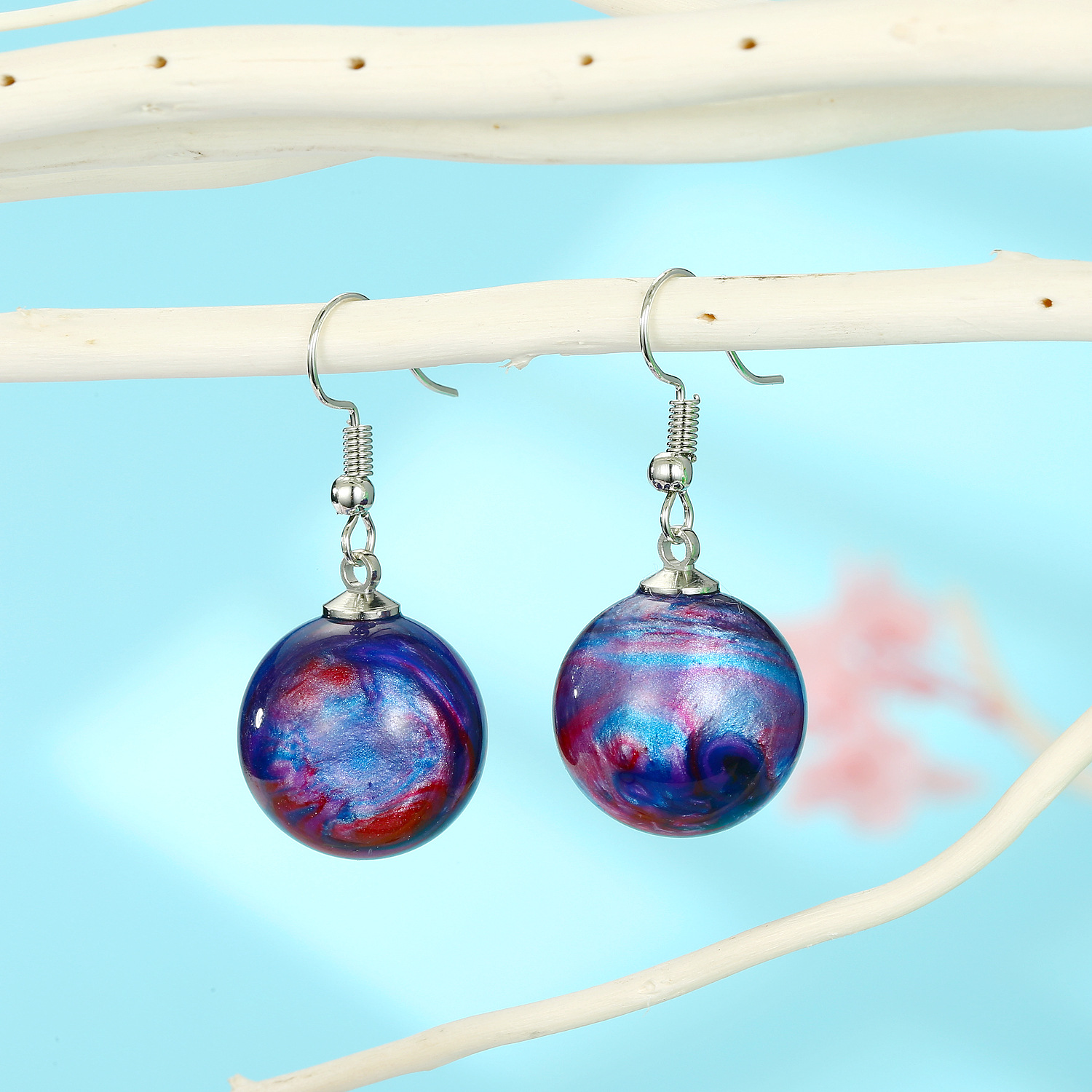 New Star Earrings Colorful Ball Earrings New Star Earrings Resin wholesales fashion NHGO201037