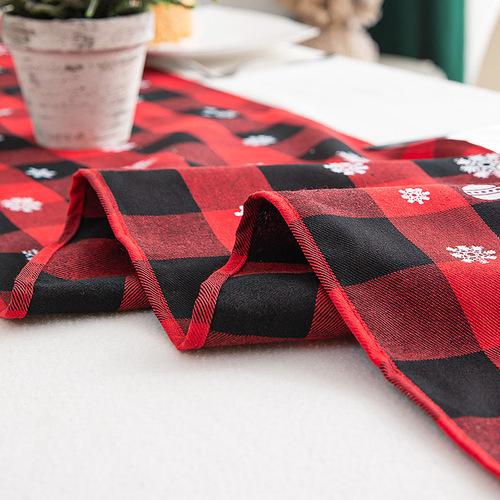 Tablecloth table cloth table cover Christmas ornaments Plaid Art Christmas table flag creative European style Christmas tea table table table
