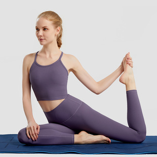 Autumn and winter new yoga clothes suit women high elastic breathable fitness clothes gym training sports two-piece set