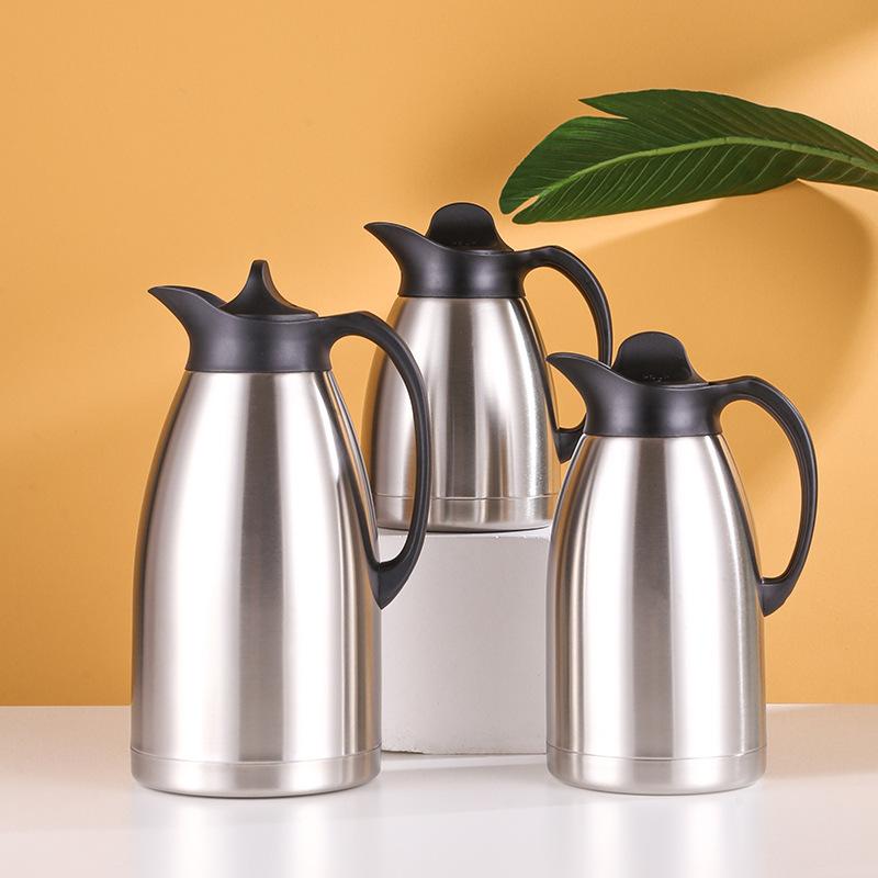 不锈钢双层真空保温壶保冷保热家用餐厅欧式大容量热水瓶现货批发