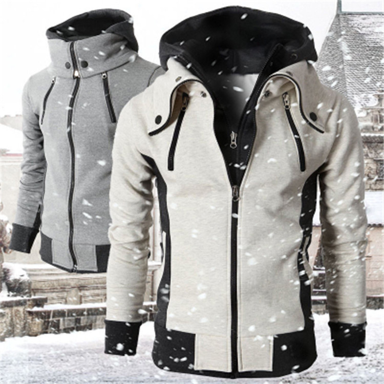 Foreign trade thin autumn 2020 New Youth Holiday two piece sports cardigan casual menswear men's Hooded Sweater