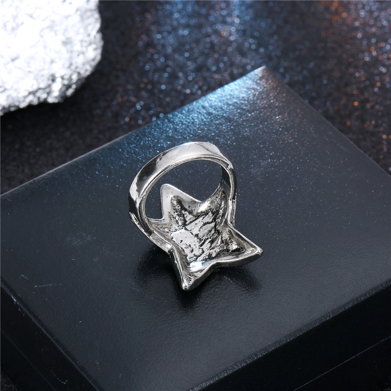 hot sale men's ring domineering ancient silver starfish ring wholesale nihaojewelry NHGO235287