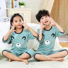 夏季兒童內衣套裝七分空調服批發 純棉卡通睡衣童套裝家居兩件套