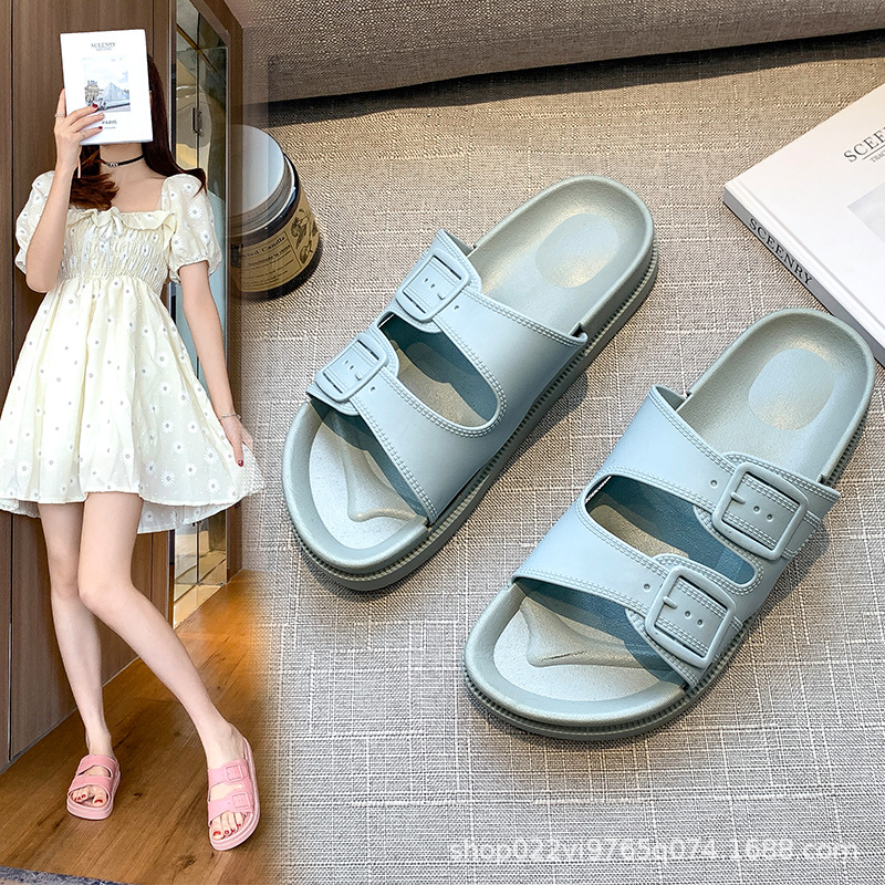 Women's Slippers Summer One-word Sandals and Slippers