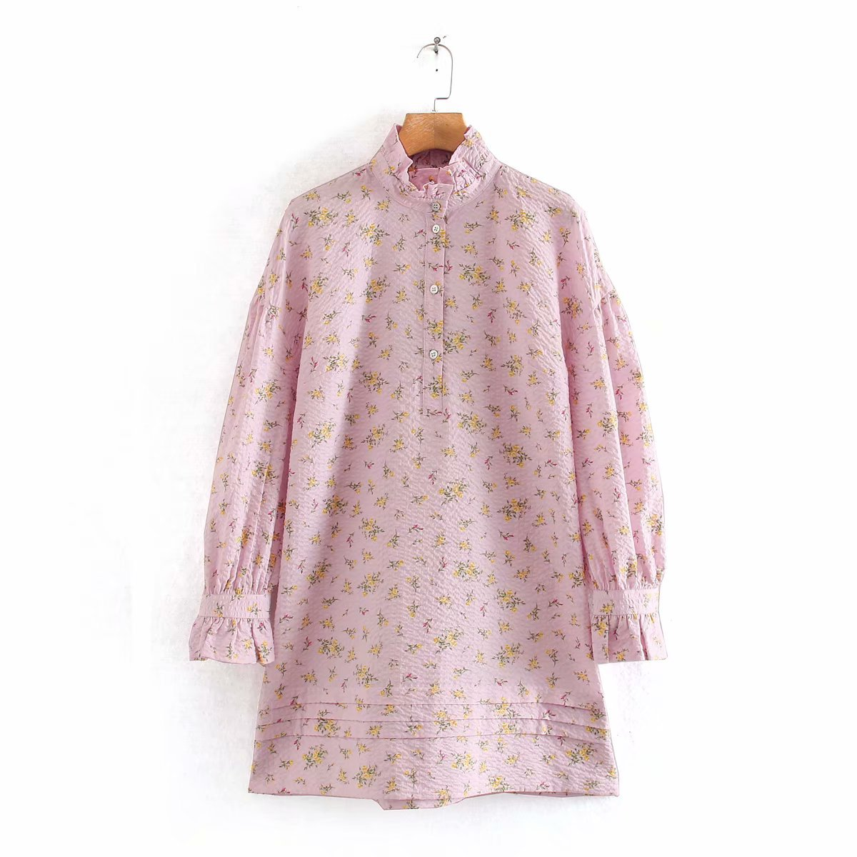 Fashion women's dress wholesale printed shirt long sleeve dress NHAM200113