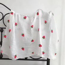 棉双层纱布襁褓巾11*11包巾无荧光浴巾多花代发 婴儿用抱被盖毯