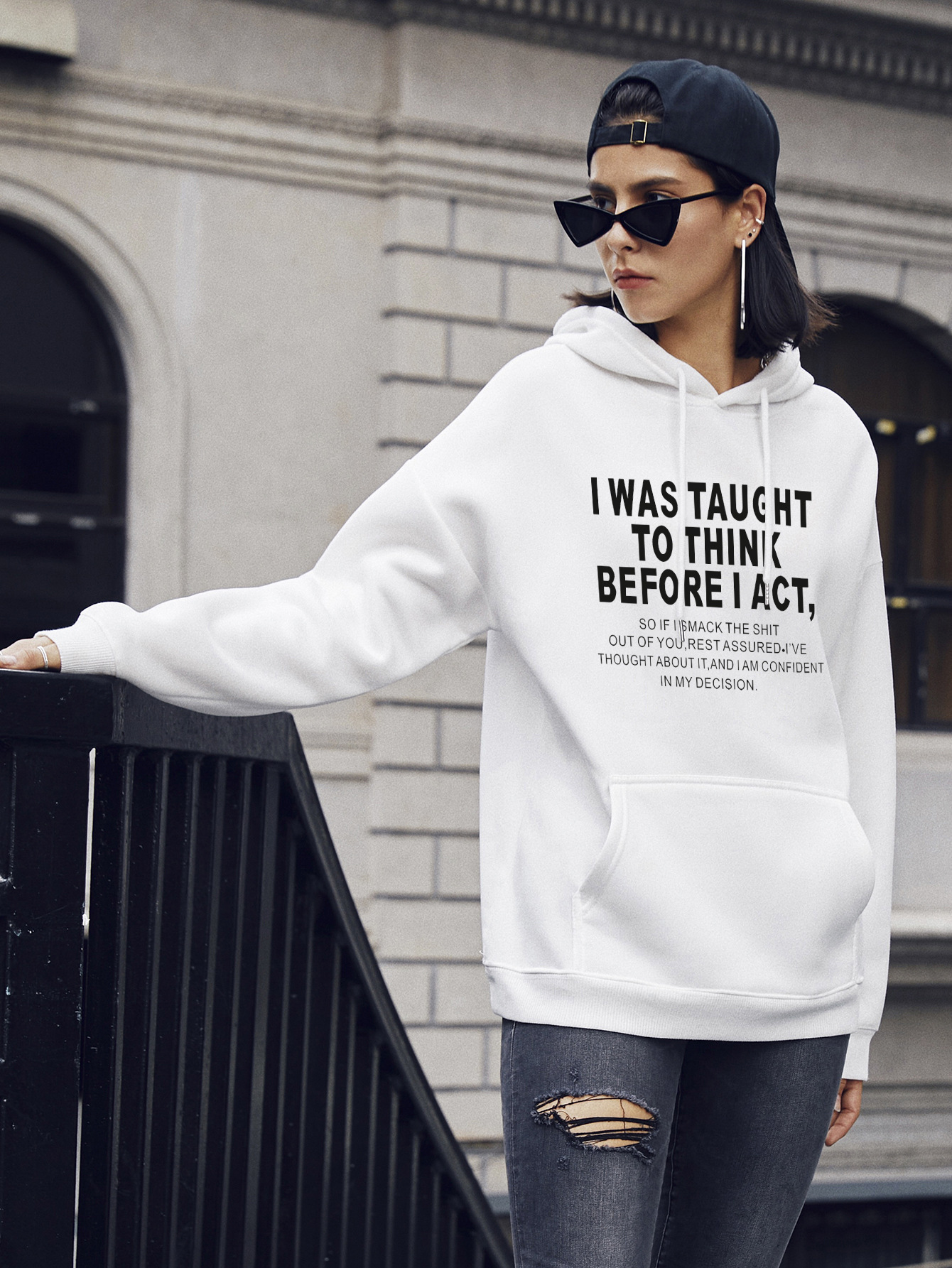 casual hooded sweater letter printing hoodies for women NSSN1736