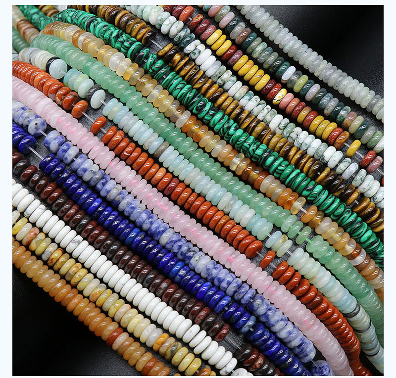 Natural crystal agate semiprecious stones 26mm beaded diy jewelry accessories 160 pieceswholesale NHKES356060