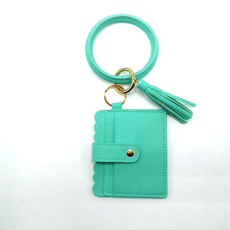 亚马逊爆款热卖多色皮革钥匙手环时尚百搭印花手环钥匙证件卡套