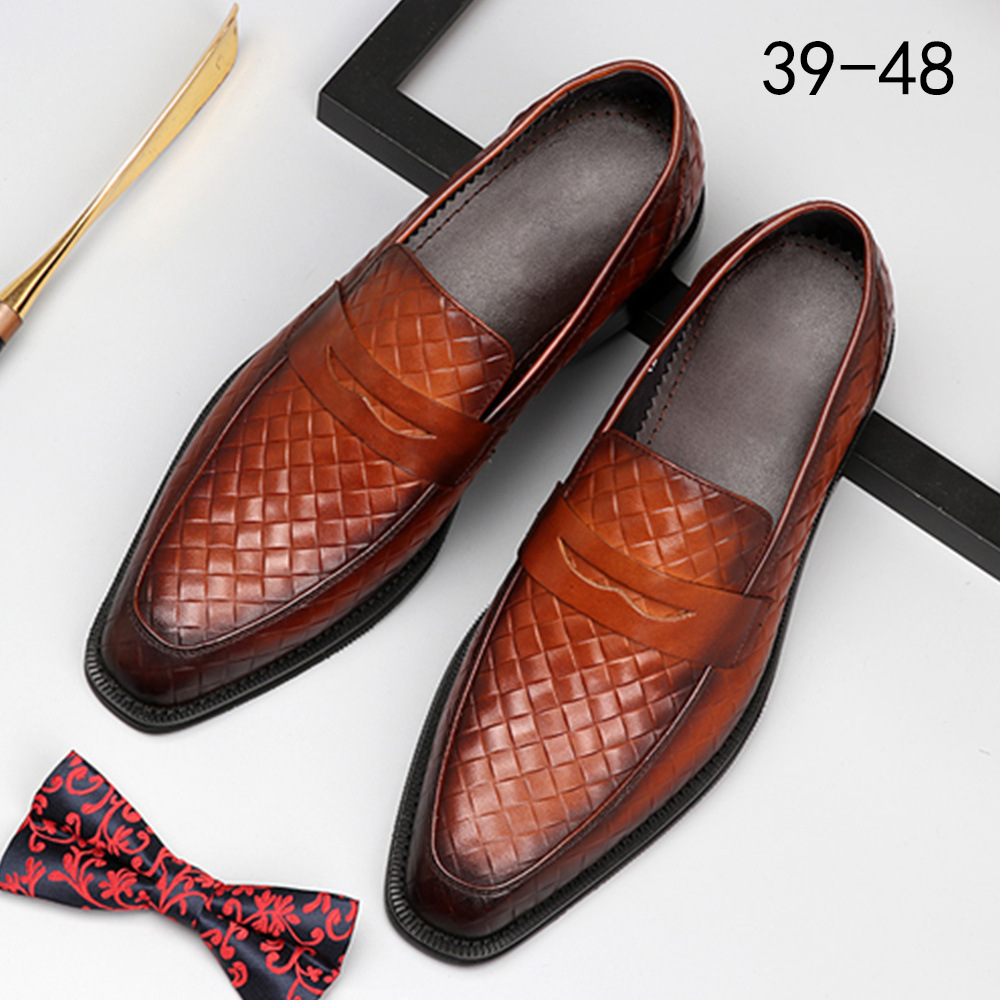 Aofu Shoes Spring and Summer European Edition of Retro Men's Leather Shoes