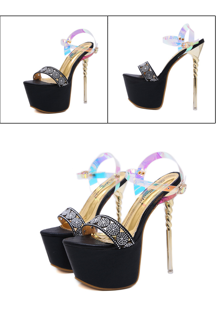 New women's shoes ultra-high fine sandals with rhinestone buckle NHSO203236