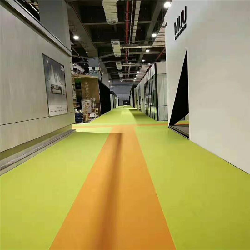 平面展览地毯浅灰覆膜展会地毯  展厅展示世博城国际展览中心专用