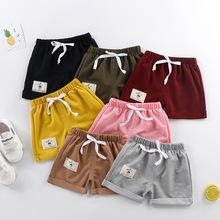 2021儿童短裤男女童运动裤宝宝休闲裤弹力裤夏季外穿薄款一件代发