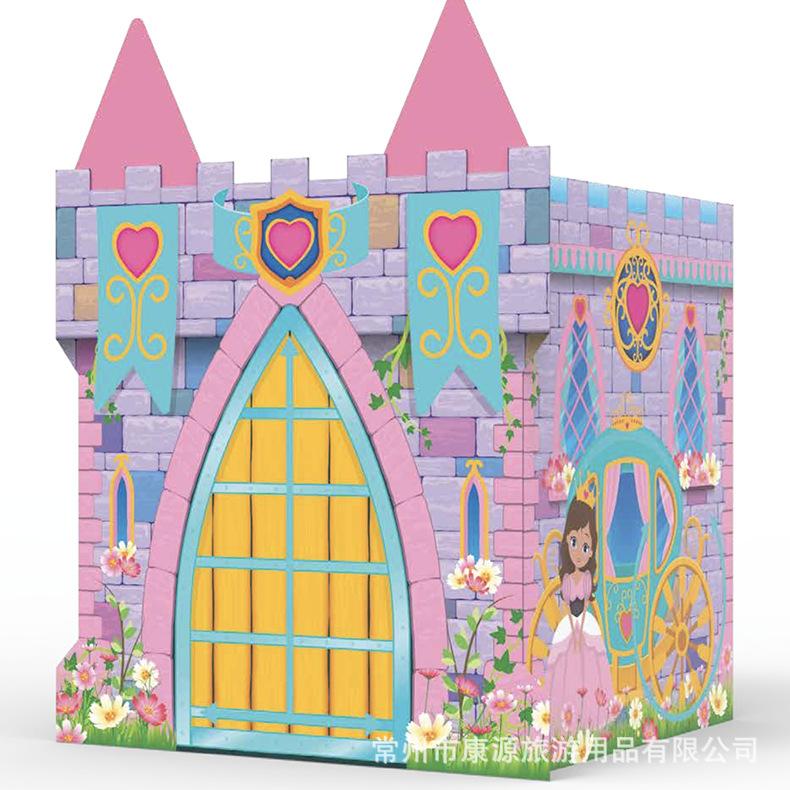 儿童帐篷室内游戏屋印第安圆形小马城堡帐篷小孩折叠趣味玩具房子