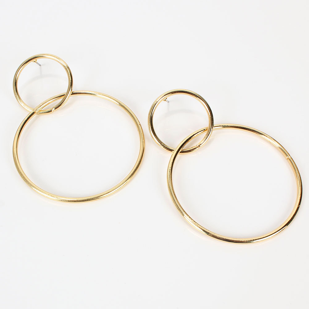 New fashion simple circle metal earrings for women wholesale NHCT207298