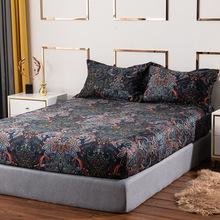 全棉磨毛波西米亚民族风四件套深色系被套床单异域风纯棉床上用品