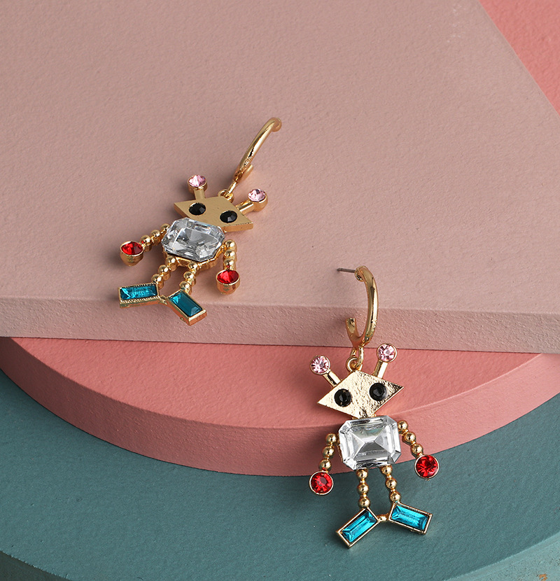 New fashion simple robot earrings for women wholesale NHJJ207167