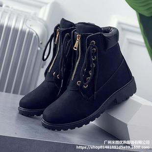 black boots women winter boots women leather for 2019 shoes