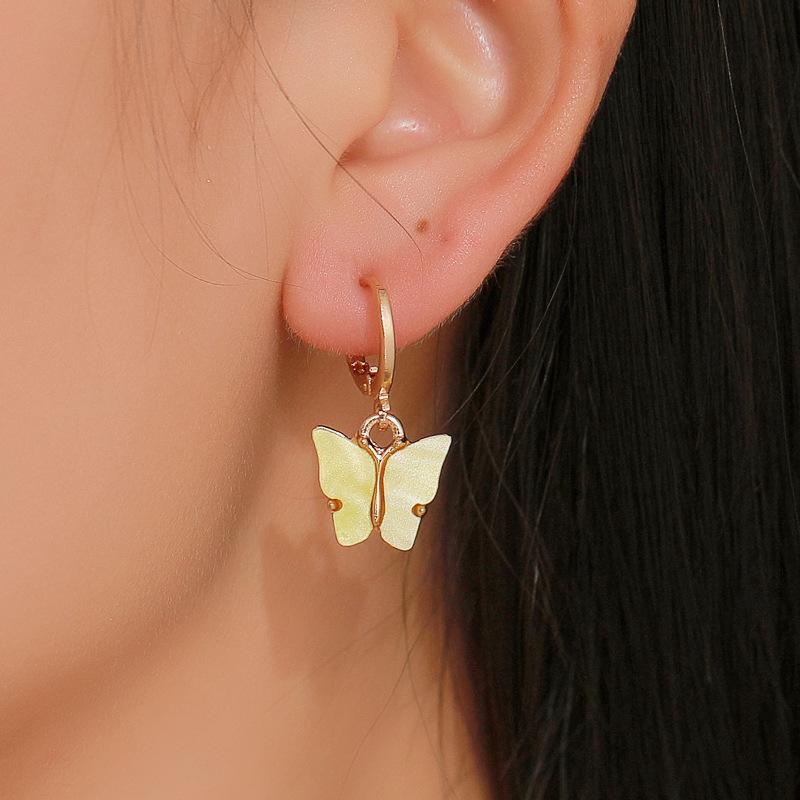fashion butterfly necklace earrings set jewelry acrylic necklace earring set hot jewelry wholesale nihaojewelr NHDP229544