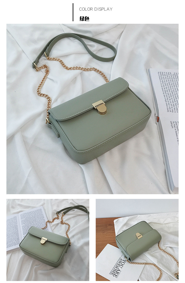 new trendy korean wild shoulder messenger fashion chain square bag NHJZ316064