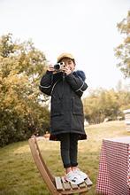 一线品牌 米琪童小鸭 韩版中大童羽绒服大毛领品牌折扣童装批发