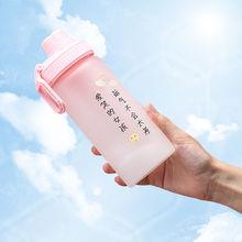 抖音创意ins清新茶水杯女学生带吸管随手玻璃杯礼品定制厂家直销